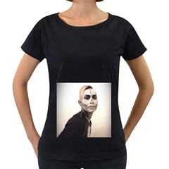 Halloween Skull And Tux  Women s Loose Fit T Shirt (black)