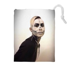 Halloween Skull And Tux  Drawstring Pouches (Extra Large)