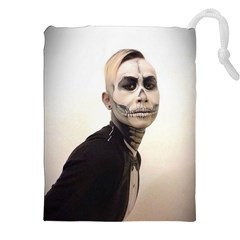 Halloween Skull And Tux  Drawstring Pouches (XXL)
