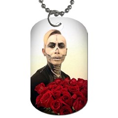 Halloween Skull Tux And Roses  Dog Tag (one Side)