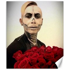 Halloween Skull Tux And Roses  Canvas 20  X 24
