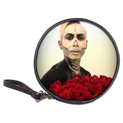 Halloween Skull Tux And Roses  Classic 20 Cd Wallets
