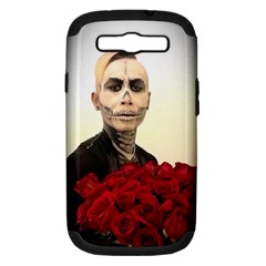 Halloween Skull Tux And Roses  Samsung Galaxy S Iii Hardshell Case (pc+silicone)