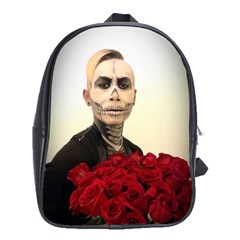Halloween Skull Tux And Roses  School Bags (xl)