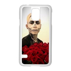 Halloween Skull Tux And Roses  Samsung Galaxy S5 Case (white)