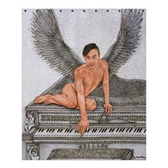 Angel And The Piano Drawing Shower Curtain 60  X 72  (medium)