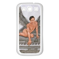 Angel And The Piano Drawing Samsung Galaxy S3 Back Case (white)
