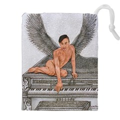 Angel And The Piano Drawing Drawstring Pouches (XXL)
