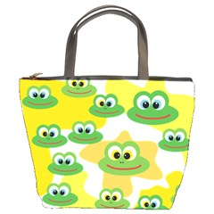 Cute Frog Family Whimsical Bucket Bags