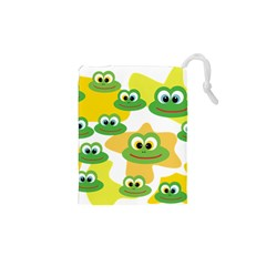 Cute Frog Family Whimsical Drawstring Pouches (XS)