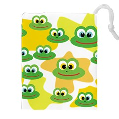 Cute Frog Family Whimsical Drawstring Pouches (XXL)