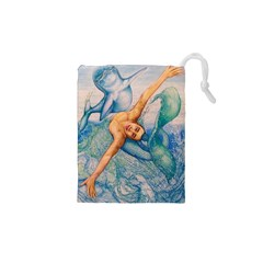 Zodiac Signs Pisces Drawing Drawstring Pouches (XS)