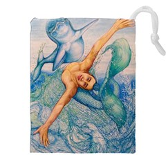Zodiac Signs Pisces Drawing Drawstring Pouches (XXL)