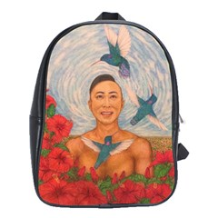 Spring Amazed By The Hummingbirds Drawing School Bags (xl)