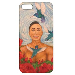 Spring Amazed By The Hummingbirds Drawing Apple Iphone 5 Hardshell Case With Stand
