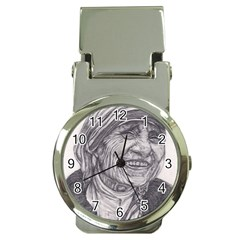 Mother Theresa  Pencil Drawing Money Clip Watches