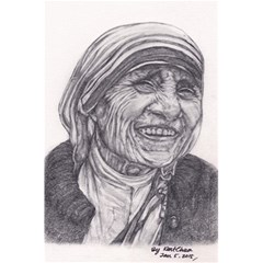 Mother Theresa  Pencil Drawing 5 5  X 8 5  Notebooks