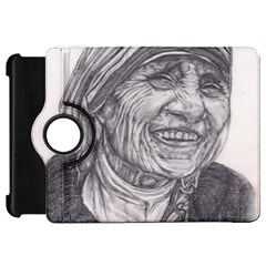 Mother Theresa  Pencil Drawing Kindle Fire Hd Flip 360 Case