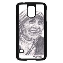 Mother Theresa  Pencil Drawing Samsung Galaxy S5 Case (black)