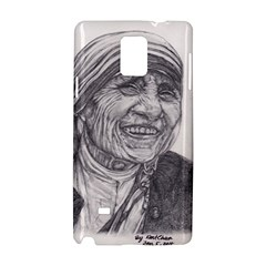 Mother Theresa  Pencil Drawing Samsung Galaxy Note 4 Hardshell Case