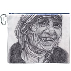 Mother Theresa  Pencil Drawing Canvas Cosmetic Bag (xxxl)