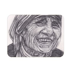Mother Theresa  Pencil Drawing Double Sided Flano Blanket (mini)