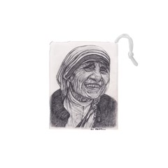 Mother Theresa  Pencil Drawing Drawstring Pouches (xs)