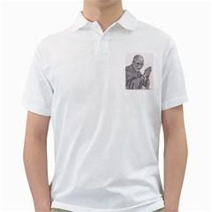 Dalai Lama Tenzin Gaytso Pencil Drawing Golf Shirts