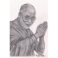 Dalai Lama Tenzin Gaytso Pencil Drawing 5 5  X 8 5  Notebooks