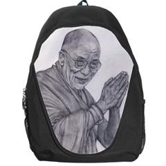 Dalai Lama Tenzin Gaytso Pencil Drawing Backpack Bag