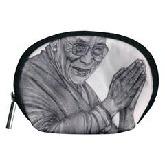Dalai Lama Tenzin Gaytso Pencil Drawing Accessory Pouches (medium)