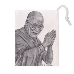 Dalai Lama Tenzin Gaytso Pencil Drawing Drawstring Pouches (extra Large)