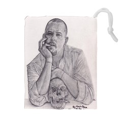 Alexander McQueen Pencil Drawing Drawstring Pouches (Extra Large)