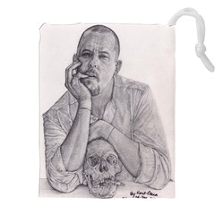 Alexander McQueen Pencil Drawing Drawstring Pouches (XXL)