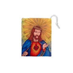 Sacred Heart Of Jesus Christ Drawing Drawstring Pouches (XS)