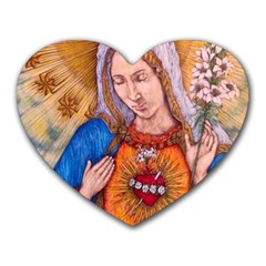Immaculate Heart Of Virgin Mary Drawing Heart Mousepads