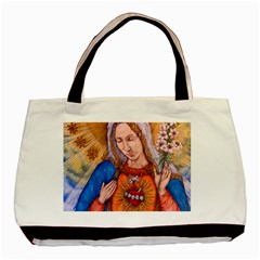 Immaculate Heart Of Virgin Mary Drawing Basic Tote Bag (two Sides)