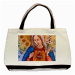 Immaculate Heart Of Virgin Mary Drawing Basic Tote Bag (Two Sides)  Back
