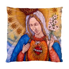 Immaculate Heart Of Virgin Mary Drawing Standard Cushion Case (one Side)