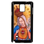 Immaculate Heart Of Virgin Mary Drawing Samsung Galaxy Note 4 Case (Black) Front