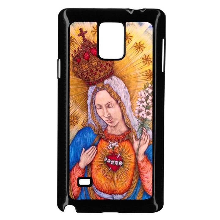 Immaculate Heart Of Virgin Mary Drawing Samsung Galaxy Note 4 Case (Black)