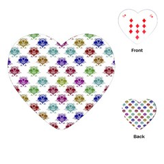 Fantasy Angry Birds Drawings Pattern Playing Cards (heart)