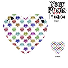 Fantasy Angry Birds Drawings Pattern Playing Cards 54 (heart)