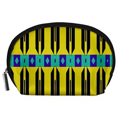 Rhombus And Other Shapes Pattern Accessory Pouch
