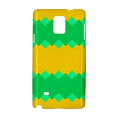 Green Rhombus Chains 			samsung Galaxy Note 4 Hardshell Case