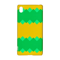 Green rhombus chains 			Sony Xperia Z3+ Hardshell Case
