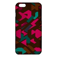 Brown pink blue shapes 			iPhone 6 Plus/6S Plus TPU Case