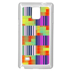 Vertical And Horizontal Stripes samsung Galaxy Note 4 Case (white)