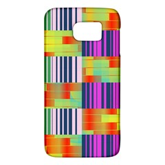Vertical And Horizontal Stripes 			samsung Galaxy S6 Hardshell Case
