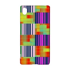 Vertical and horizontal stripes Sony Xperia Z3+ Hardshell Case